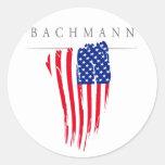 Micaela Bachmann para el presidente 2012 Pegatina Redonda