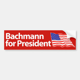 Micaela Bachmann para el presidente. 2012. Pegatina Para Auto
