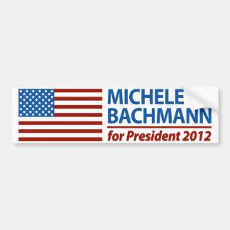 Micaela Bachmann para el presidente 2012 Pegatina Para Auto