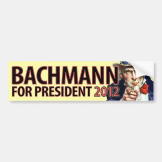 Micaela Bachmann para el presidente Pegatina Para Auto