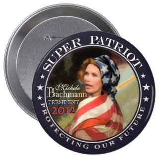 Micaela Bachmann, patriota estupendo Pin Redondo De 4 Pulgadas