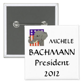 MICAELA, BACHMANN, presidente 2012 Pin Cuadrado