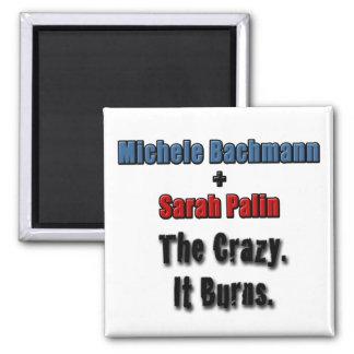 Micaela Bachmann Sarah Palin que el loco él quema Imán Cuadrado