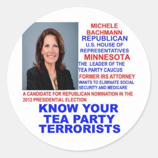 Micaela Bachmann, terrorista de la fiesta del té Pegatinas Redondas