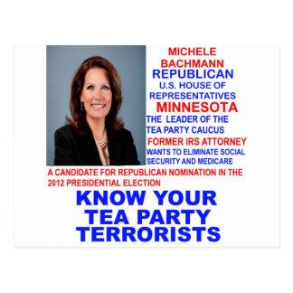 Micaela Bachmann, terrorista de la fiesta del té Postal