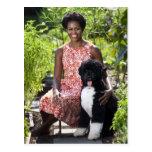 Micaela y BO Obama Postal