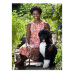 Micaela y BO Obama Tarjetas Postales