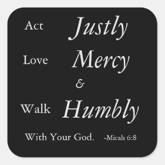 Micah 6:8 Bible Verse Sticker