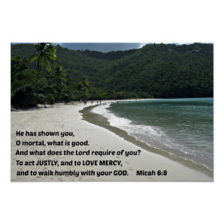 Micah 6:8 He has shown you, O mortal, .... Poster