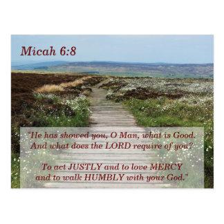 Micah 6 8 Scripture Memory Card