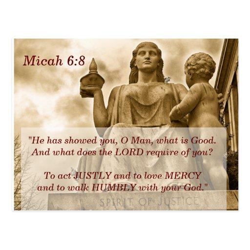 Micah 6 8 Scripture Memory Card Postcards