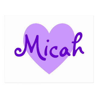 Micah in Purple Postcard
