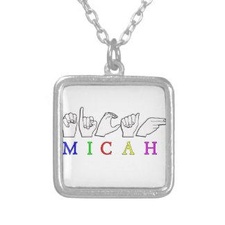 MICAH   NAME ASL FINGER SPELLED NECKLACES