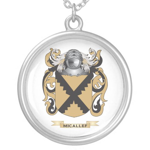 micallef coat of arms family crest pendant