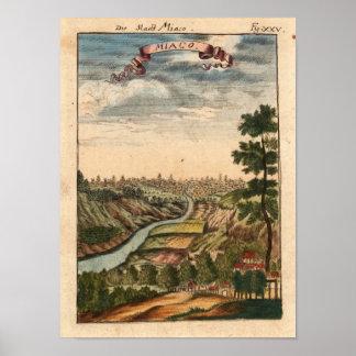Micao, Japan, Mallet, 1719 Reproduction Print