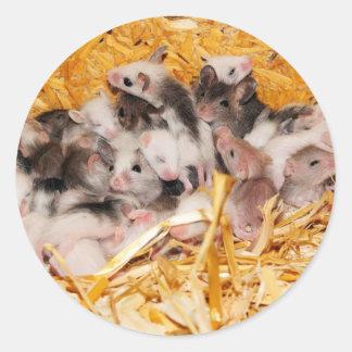 mice-3958 pegatina redonda