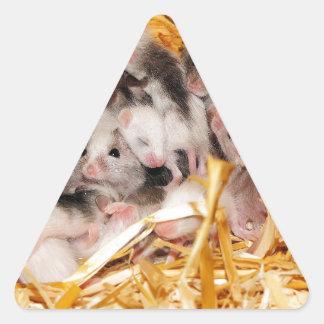 mice-3958 pegatina triangular