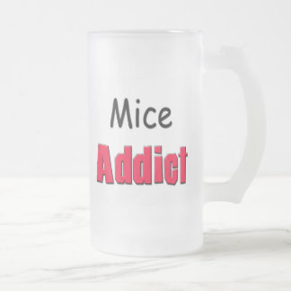 Mice Addict 16 Oz Frosted Glass Beer Mug