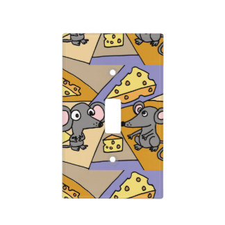 Mice and Cheese Art Abstract Light Switch Cover