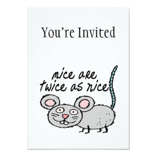 Mice Are Twice As Nice 5x7 Paper Invitation Card