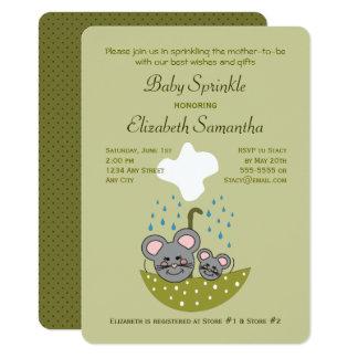 Mice Baby Sprinkle Invitation