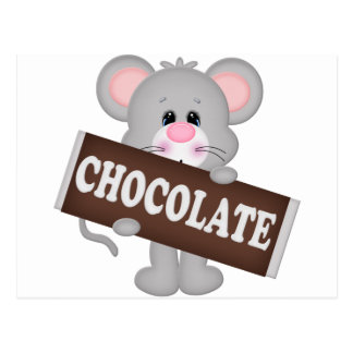 Mice Chocolate Postcard