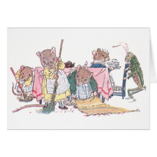 Mice Cleaning, Sweeping, etc. Card