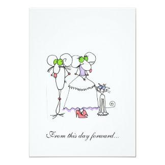 MICE-CRITTER WEDDING INVITATION