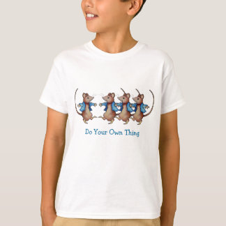 Mice Dancing: Do Your Own Thing: Color Pencil T-Shirt