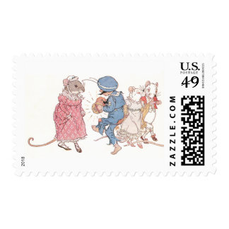 Mice Dancing to Concertina Postage