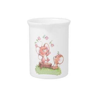 Mice having a little summer fun beverage pitchers