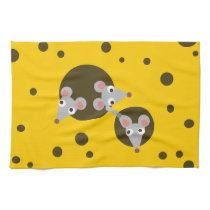 Mice in cheese hand towel