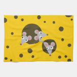 Mice in cheese kitchen towels