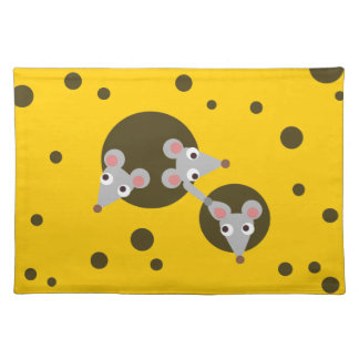 Mice in cheese place mat
