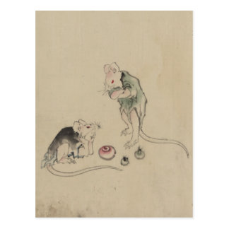Mice in Council Postcard