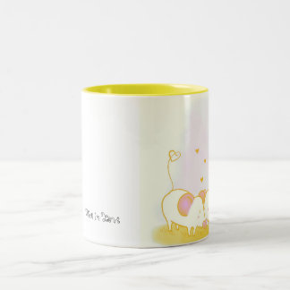 Mice in Love Two-Tone Coffee Mug