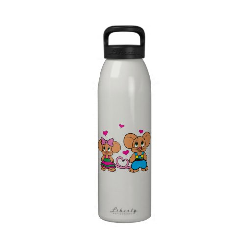 Mice in Love: Pepito and Pepita Water Bottle