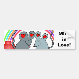 Mice in Love Valentines Bumper Sticker