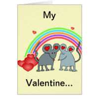 Mice in Love Valentines Greeting Card