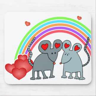 Mice in Love Valentines Mousepad