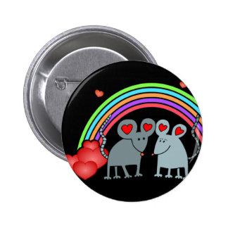 Mice in Love Valentines Pinback Button