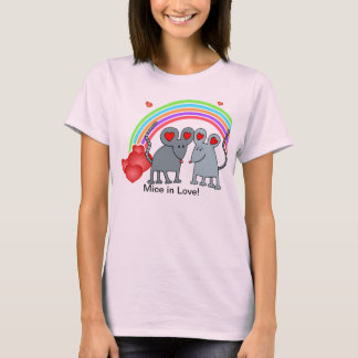 Mice in Love Valentines T-Shirt