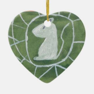 "Mice in Spiderweb by Artist ""S.B. Eazle"" Ceramic Ornament"