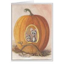 mice inside pumpkin