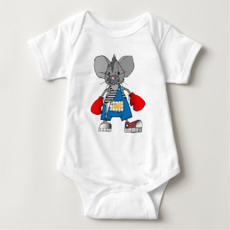Mice Mouse Mike Customizable Baby Bodysuit