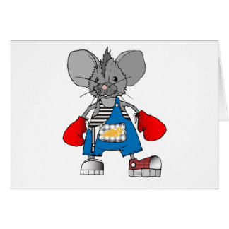 Mice Mouse Mike Customizable Greeting Card