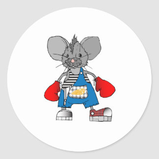 Mice Mouse Mike Customizable Round Stickers
