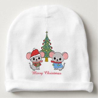 mice of Christmas Baby Beanie