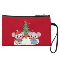 mice of Christmas Wristlet