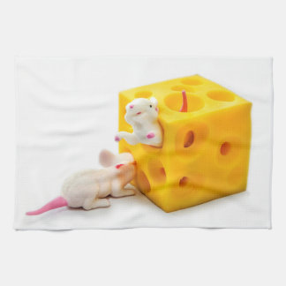 Mice on Cheese Funny Toys Kitchen Towel